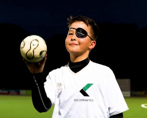 Peripheres Sehen, , Augenklappe, Augentraining Fußball, Soccerkinetics, Visualtraining, Übersicht trainieren