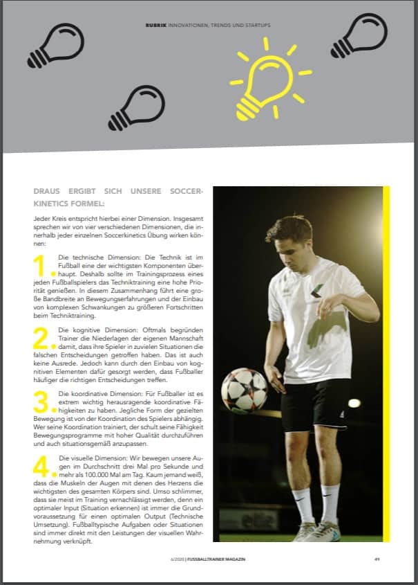 Fußballtrainermagazin Soccerkinetics
