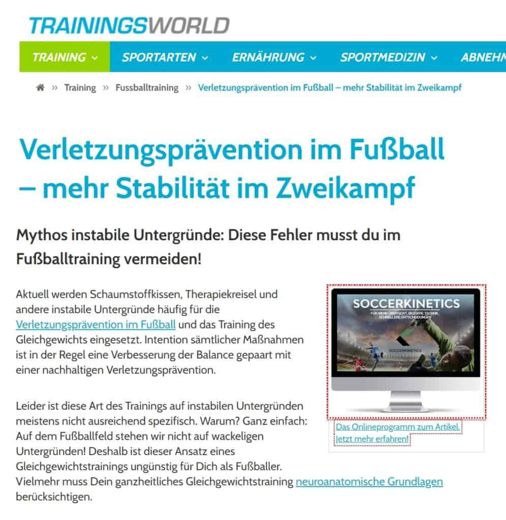 Trainingsworld Artikel Thumbnail